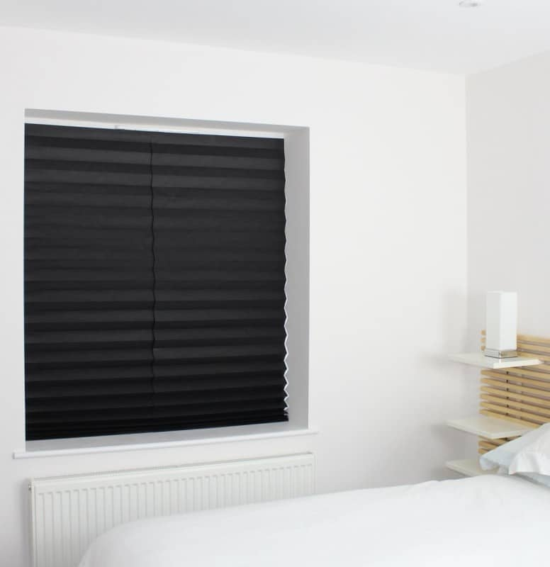 Close-up of a vertical blackout blind