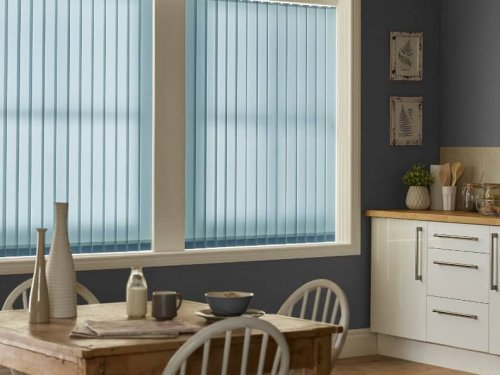 Vertical blinds - dining room