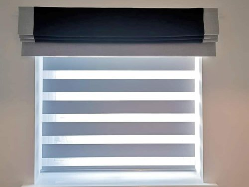 Bordered Roman Blind with Day&Night Roller