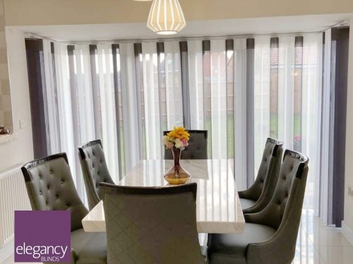 Allusion blinds - dining room