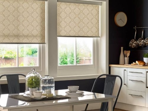 Roller blinds - dining room