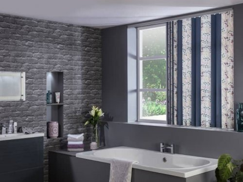 Vertical blinds - bathroom