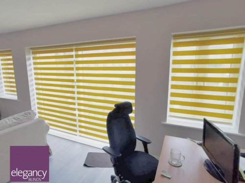 Motorised Day&Night Blinds - office