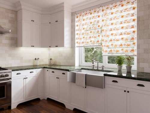 Day and night blinds - kitchen