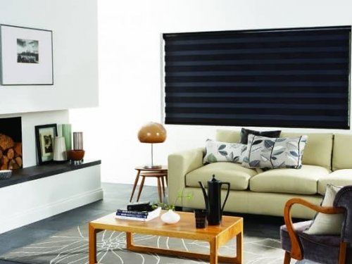 Day and night blinds - living room
