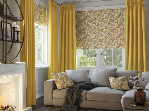 Curtains, Roman - living room